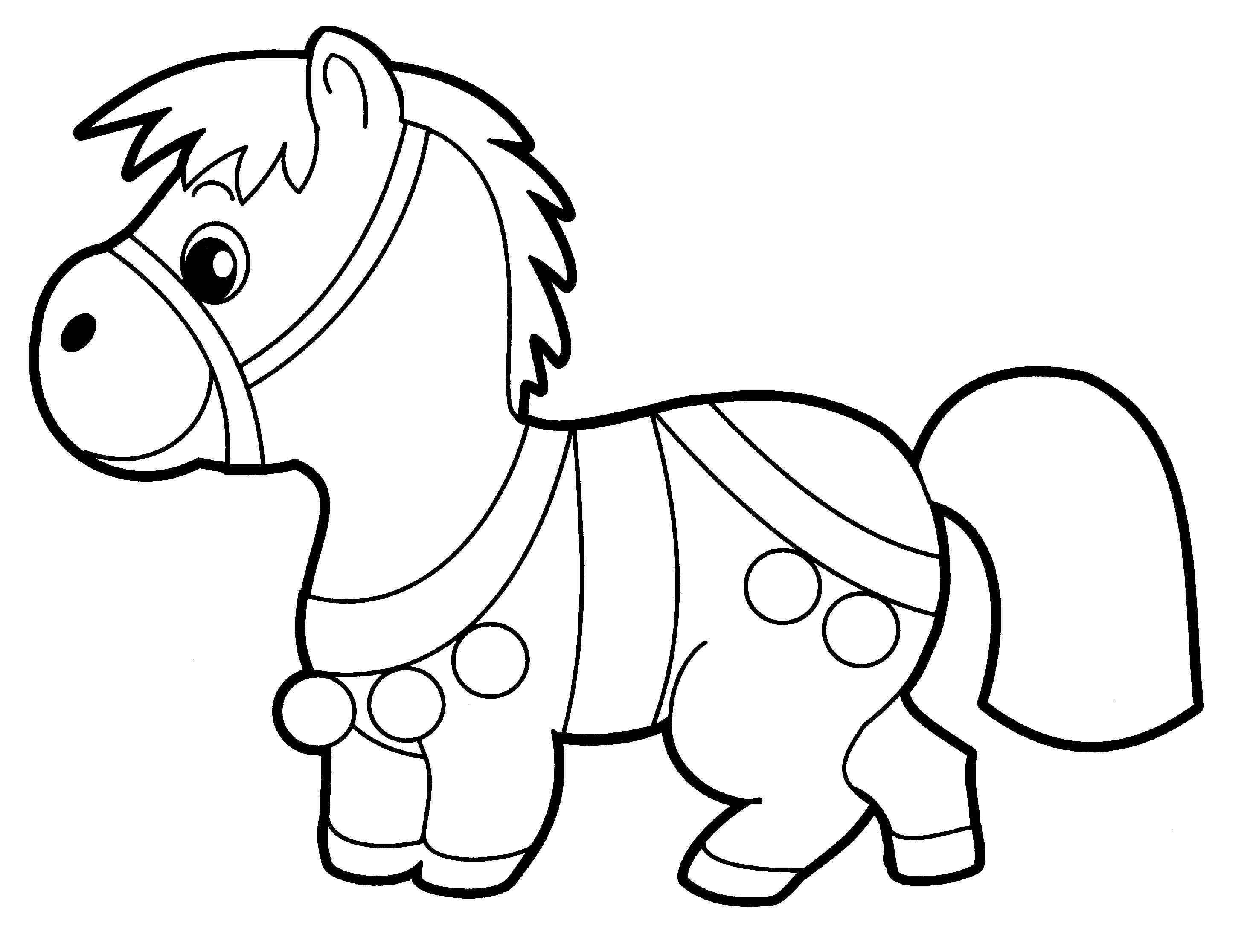 Раскраски распечатать лошадка